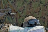 helmet, famas and map
