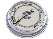 foto of barometer  - Isolated illustration of a barometer indicating an ominous storm - JPG
