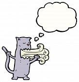 image of belching  - belching cat cartoon - JPG