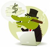 Crocodile Bankster Crook