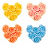Collection Hearts From Flower Soap