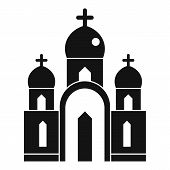 Christian Church Icon. Simple Illustration Of Christian Church Vector Icon For Web Design Isolated O poster