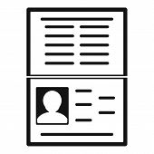Open Id Passport Icon. Simple Illustration Of Open Id Passport Vector Icon For Web Design Isolated O poster