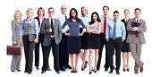 Gruppe von Geschäftsleuten. Business-Team. Isolated over white Background.