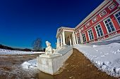 Sphinx And Palace In Kuskovo