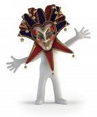 3D Small People - Carnival Mask