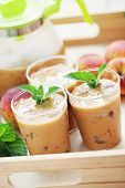 delicious and cold peach coctail - food and drink