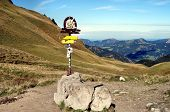 A signpost in the Allgaeu Alps