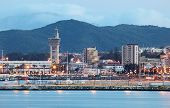 City Of Algeciras At Dusk. Spain