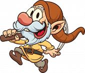 Old dwarf miner. Vector clip art illustration. All in a single layer.