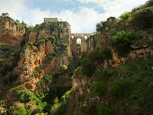 Puente Nuevo in El Tajo gorge, Ronda.    Ronda  is a city in the Spanish province of M�?�?�?�¡laga.