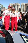 LOS ANGELES - APR 9:  Michael Trucco, Jesse Metcalfe at the Toyota ProCeleb Race Press Day 2013 at t