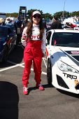 LOS ANGELES - APR 9:  Kate del Castillo at the Toyota ProCeleb Race Press Day 2013 at the Toyoto Gra