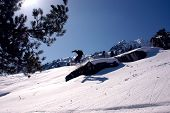 Off Piste Snowboard Jump