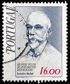 Selo postal Portugal 1979 Bernardino Machado, presidente de Portugal
