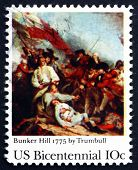 Postage Stamp Usa 1975 Battle Of Bunker Hill