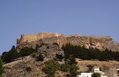 stock photo of akropolis  - castle  on the hill in Lindos - JPG