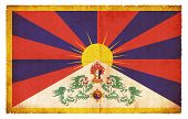 Grunge Flag Of Tibet