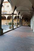 Basilica of Santissima Annunziata in Florence . Italy