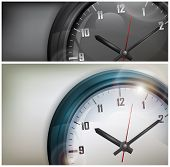 Clocks On White And Black