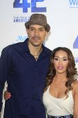 LOS ANGELES - APR 9: Matt Barnes, Gloria Govan at the Los Angeles Premiere of '42' at TCL Chinese Th