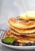 Delecious Heidelbeer-Pfannkuchen