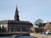 picture of prime-minister  - danish parliament building  - JPG