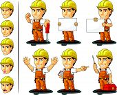 Industrial Construction Worker Mascot