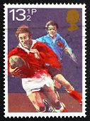 Briefmarke Gb 1983 Rugby Football