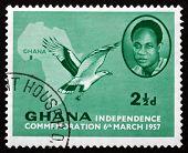 Postage Stamp Ghana 1957 Kwame Nkrumah, President