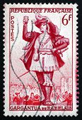 Postage Stamp France 1953 Gargantua By Francois Rabelais
