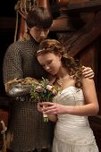 image of juliet  - Young couple marriedlooking alike Romeo and Juliet - JPG
