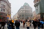 WIEN,AUSTRIA - DECEMBER 24:  Shopping street Graben on December 24, 2012 in Wien, Austria.