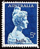 Postage Stamp Australia 1961 Dame Nellie Melba, Singer