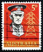 Postage Stamp Australia 1965 General Sir John Monash