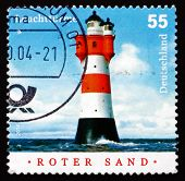 Postage Stamp Germany 2004 Roter Sand, Lighthouse