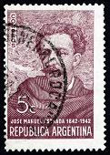 Selo postal Argentina 1942 Jose Manuel Estrada