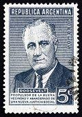 Postage Stamp Argentina 1946 Franklin Delano Roosevelt