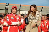 Belen Rodriguez And The Ferrari Team