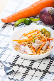 image of pancit  - pancit canton for merienda or snacks popularize in the Philippines - JPG