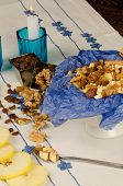 foto of seder  - Haroset and its main ingredients a passover seder classic - JPG