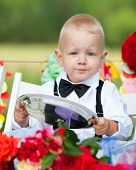 Baby Boy At Festive Table