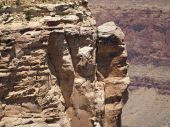 Gray Rock Ledge At The Grand Canyon