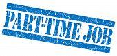 Part-time Job Grunge Blue Stamp