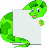 Cute dinosaur cartoon holding blank sign