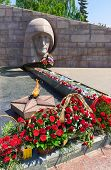Samara, Russia -  The Eternal Flame In The Memorial Complex Of City Samara