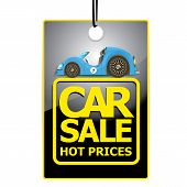 vector Car sale design template with car.