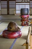 Interior Of A Buddhist Temple In Arashiyama District  In Kyoto, Japan.