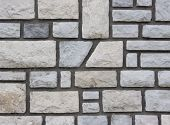 Stone wall with cement