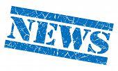News Grunge Blue Stamp